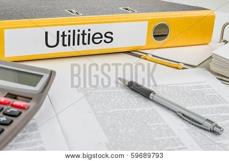 A yellow folder with the label Utilities