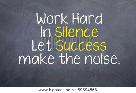 Silence and Success