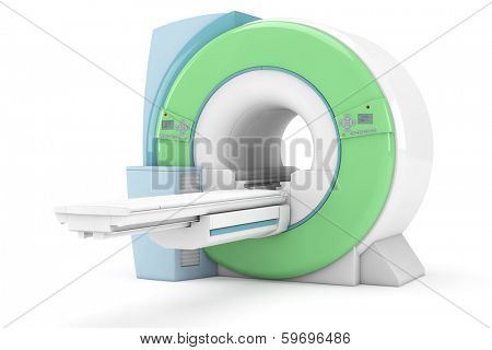 Modern magnetic resonance tompgraph MRI isolated on white background