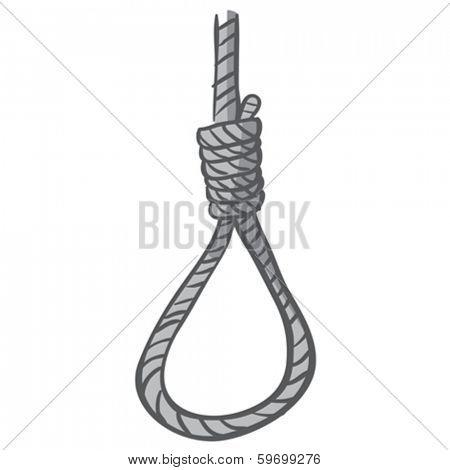 grey hangman's noose cartoon doodle