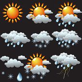 pic of hurricane clips  - weather icons - JPG