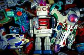 foto of tin man  - Robot Toys Around there Mother Ship - JPG
