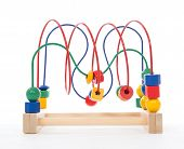 Baby Child Wooden Educational Toy With Looped Wires