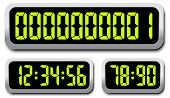 foto of countdown timer  - Set Of Vector Digital Numbers - JPG