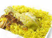 stock photo of biryani  - Chicken Rice Curry - JPG