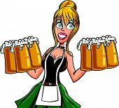 pic of wench  - Cartoon Bavarian bard maid - JPG