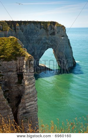 Cliffs On A Beach