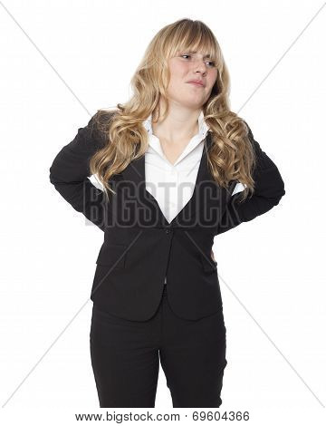 Young Businesswoman With A Sore Back