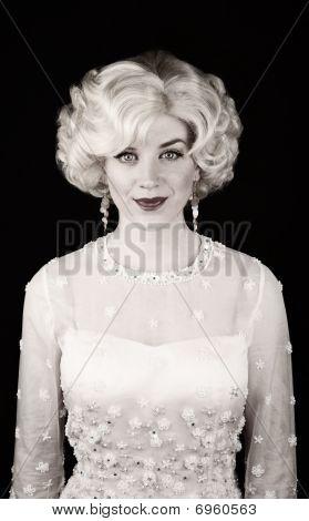 Pretty Woman In Retro Dress