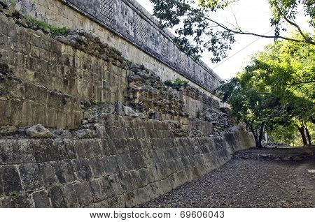 Close ups of ancient buildings built by the Mayas