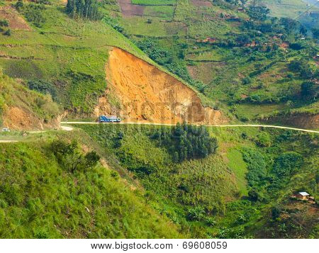 Landslides In African Mountains