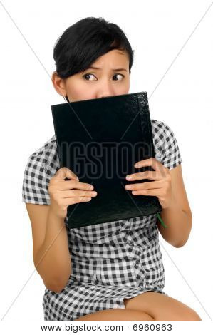 Woman Hold Book