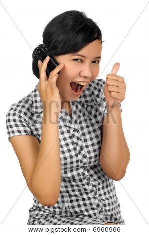 Woman Call By Phone