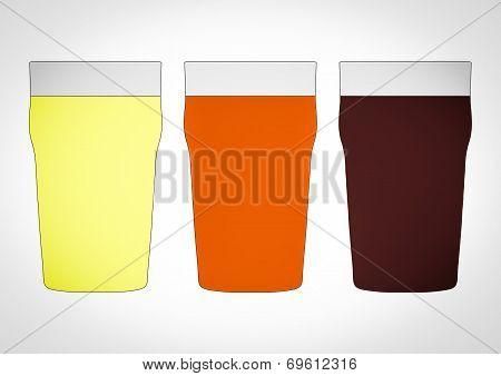Retro Look Pints Of Beer