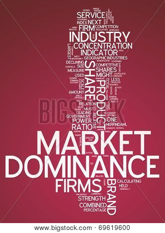 Word Cloud Market Dominance