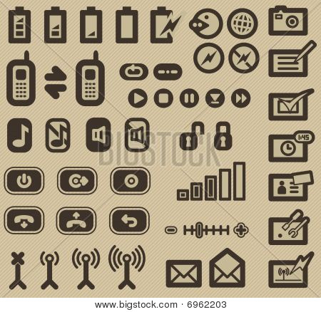 Electronic display Icons Set