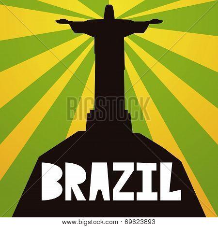 Vector Brazil Stylish Illustration Isolated On Background
