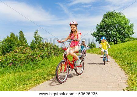 Summer bike riding