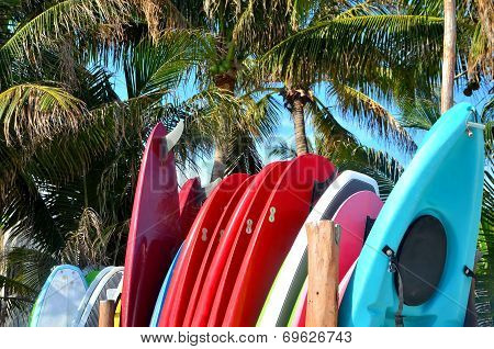 Stack Of Surfboards