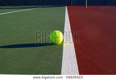 Tennis Ball on foul line