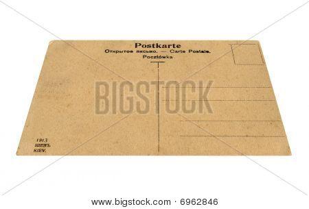 macro Vintage Grunge Postcard Isolated, White Background