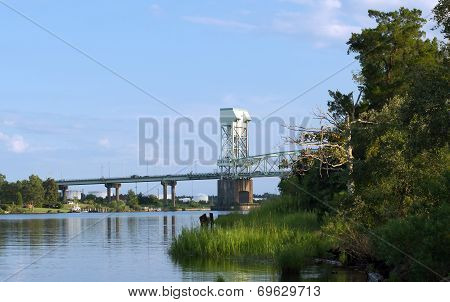Wilmington,NC Aug. 6, 2014-Cape Fear Memorial Bridge