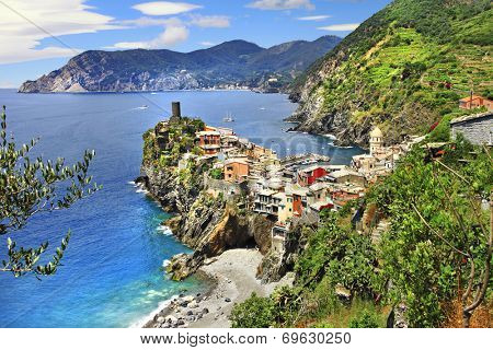Vernazza -  scenic village in Ligurian coast of Italy