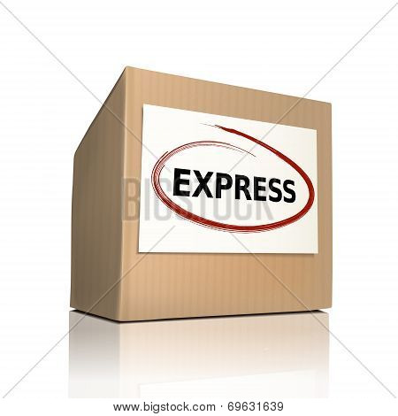 The Word Express On A Paper Box