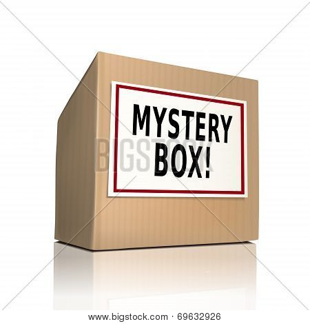 Mystery Box On A Paper Box