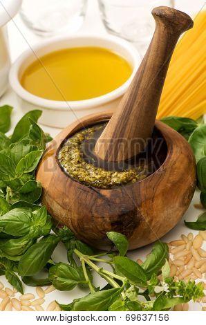 Fresh Homemade Genovese Pesto Sauce