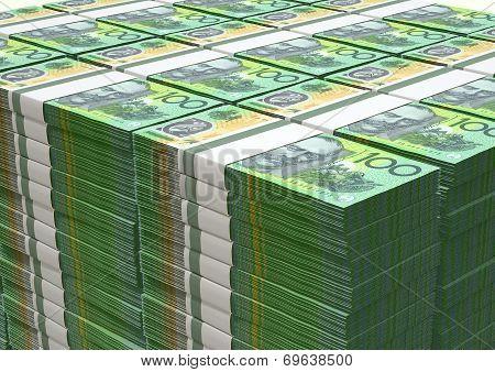 Australian Dollar Notes Pile