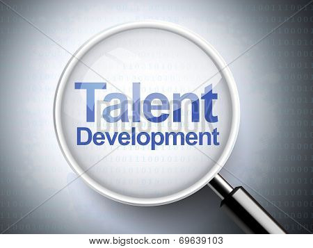 Magnifying Glass With Words Talent Development