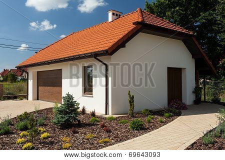 Outbuilding With Garage