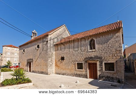 St Peter Church (xv C.). Trogir, Chiovo, Croatia