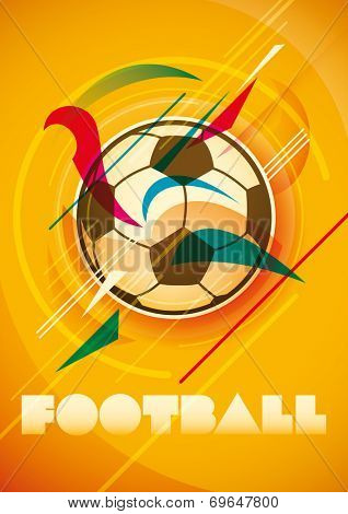 Abstract football poster design. Vector illustration.