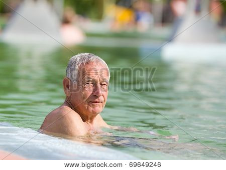 Old Man In Pool