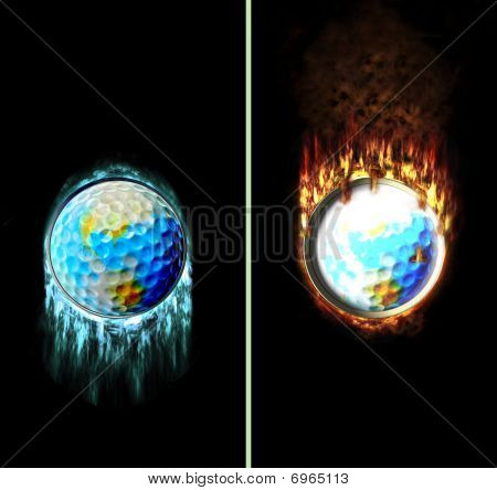 Ice Fire Golf Button