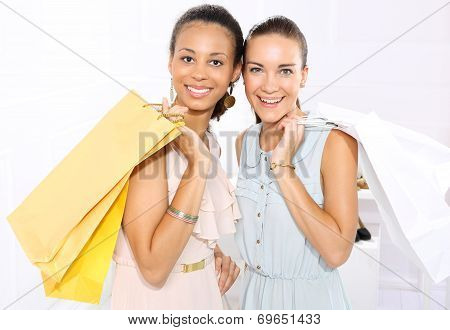 Friends of paper shopping bags