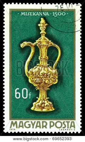 Vintage  Postage Stamp. Altar Burette, 1500.