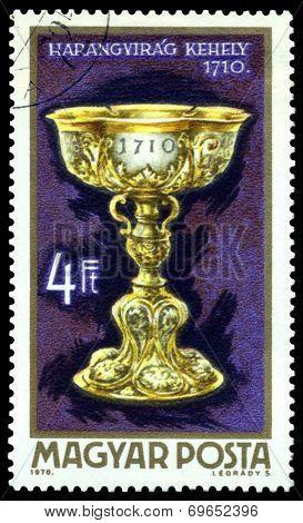 Vintage  Postage Stamp. Bell - Flower Cup.