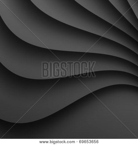 Dark Gray Wavy Background.