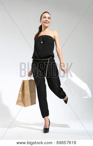 Shopping woman with bag.