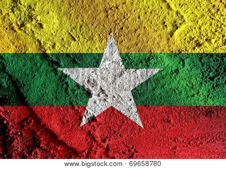 Union of Myanmar flag or Burma flag themes idea design
