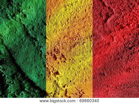 Republic of Mali flag themes idea design
