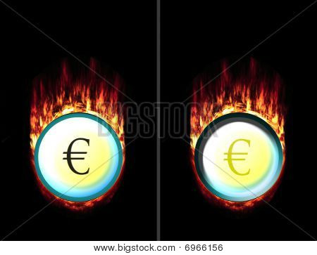 Hot Euro Button