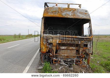 Lorry Cabin Fire