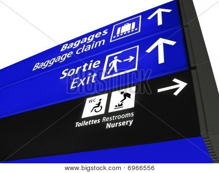 Airport Structure Sign, Baggage, Airline, Europe