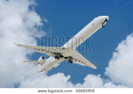 big jet plane landing