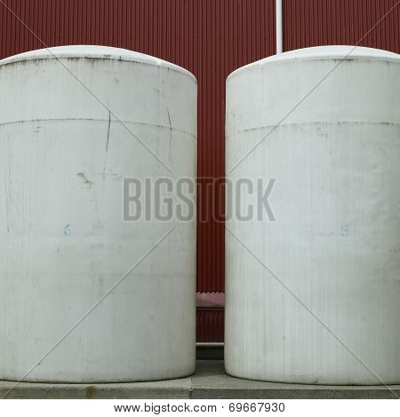 Large White Barrels