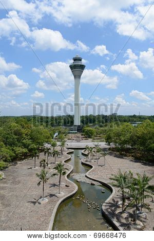 KUALA-LUMPUR - MAY 06: control tower on May 06, 2014 in Kuala-Lumpur, Malaysia. Kuala Lumpur International Airport is Malaysia's main airport and one of the major airports of South East Asia.